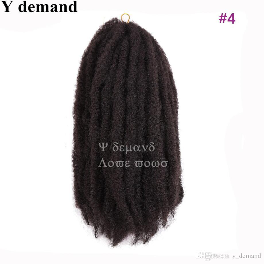 Afro Kinky Twist Hair Crochet Braids Ombre Marley Braid Hair 16inch Senegalese Curly Crochet Synthetic Braiding Hair