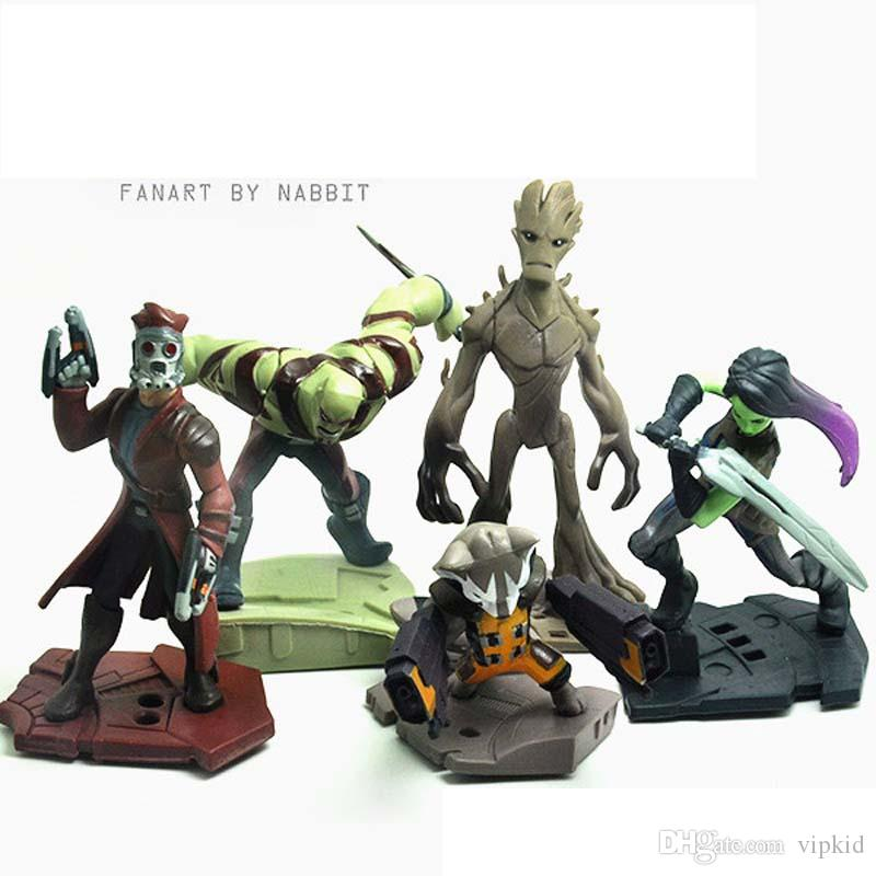Guardians of the Galaxy Vol. 2 Action Figures Figures Star Lord Mantis Nebula Gamora Rocket Baby Groot Mini Action Figures 6-10cm