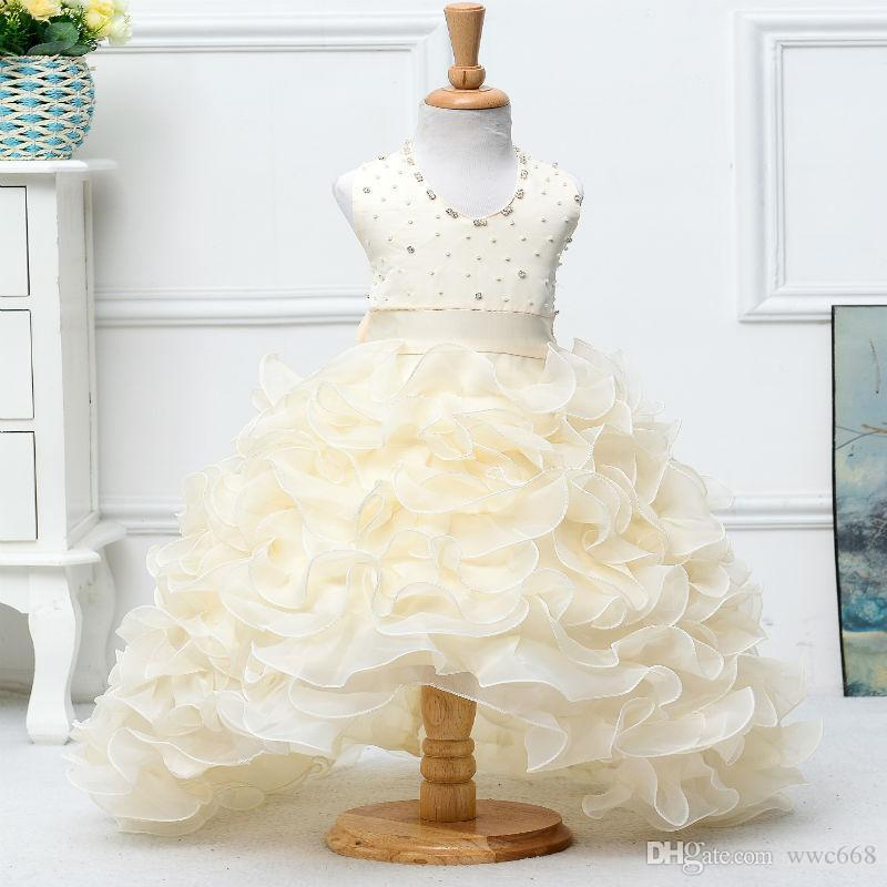 Flower Girls Dresses For Party And Wedding Baeding Cupcake Dress ...