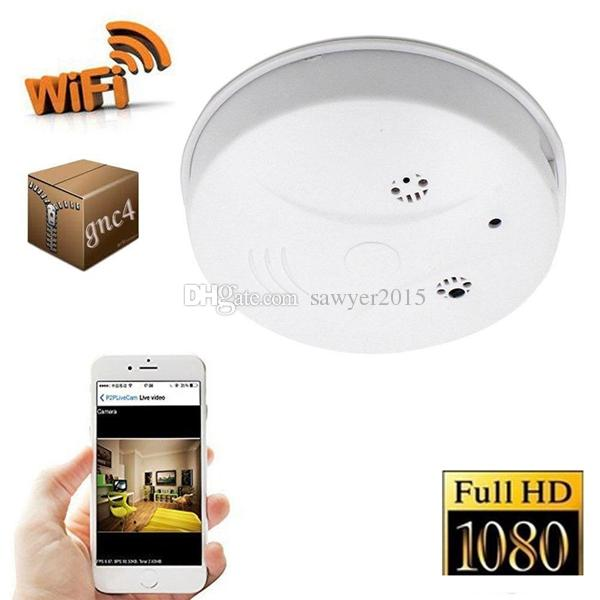 Wifi HD 1080P Smoke Detector camera Home Security IP Camera Wireless network Smoke Detector camera DVR