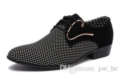 Derbies de luxe pour hommes Oxfords plats pour hommes Casual Slip-On Dress Chaussures de mariage en cuir Chaussures Chaussures de travail pour hommes Plus Size 46