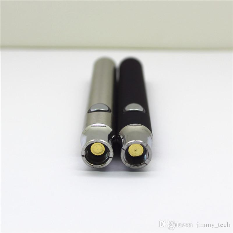 Разогрейте бутон сенсорный Vape ручка аккумулятор 510 нить ЛО стеклянном картридже воск масло испаритель курительная 400mAh время огромной емкости