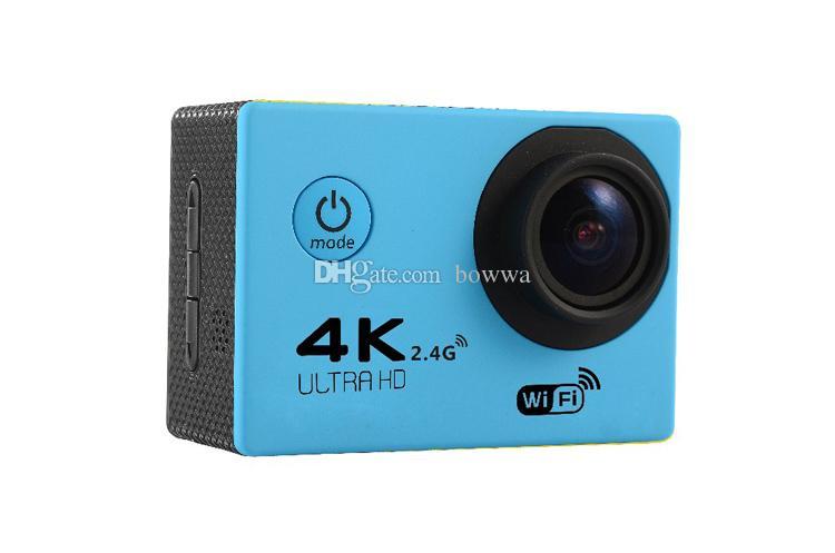 Más barato 4K Cámara de Acción F60R WIFI 2.4G Control Remoto Impermeable Cámara de Video 16MP / 12MP 4K 30FPS Registrador de buceo