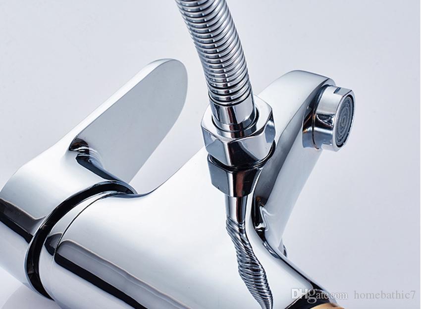 Robinet de lavabo à une manette de style contemporain, robinet de lavabo à un trou