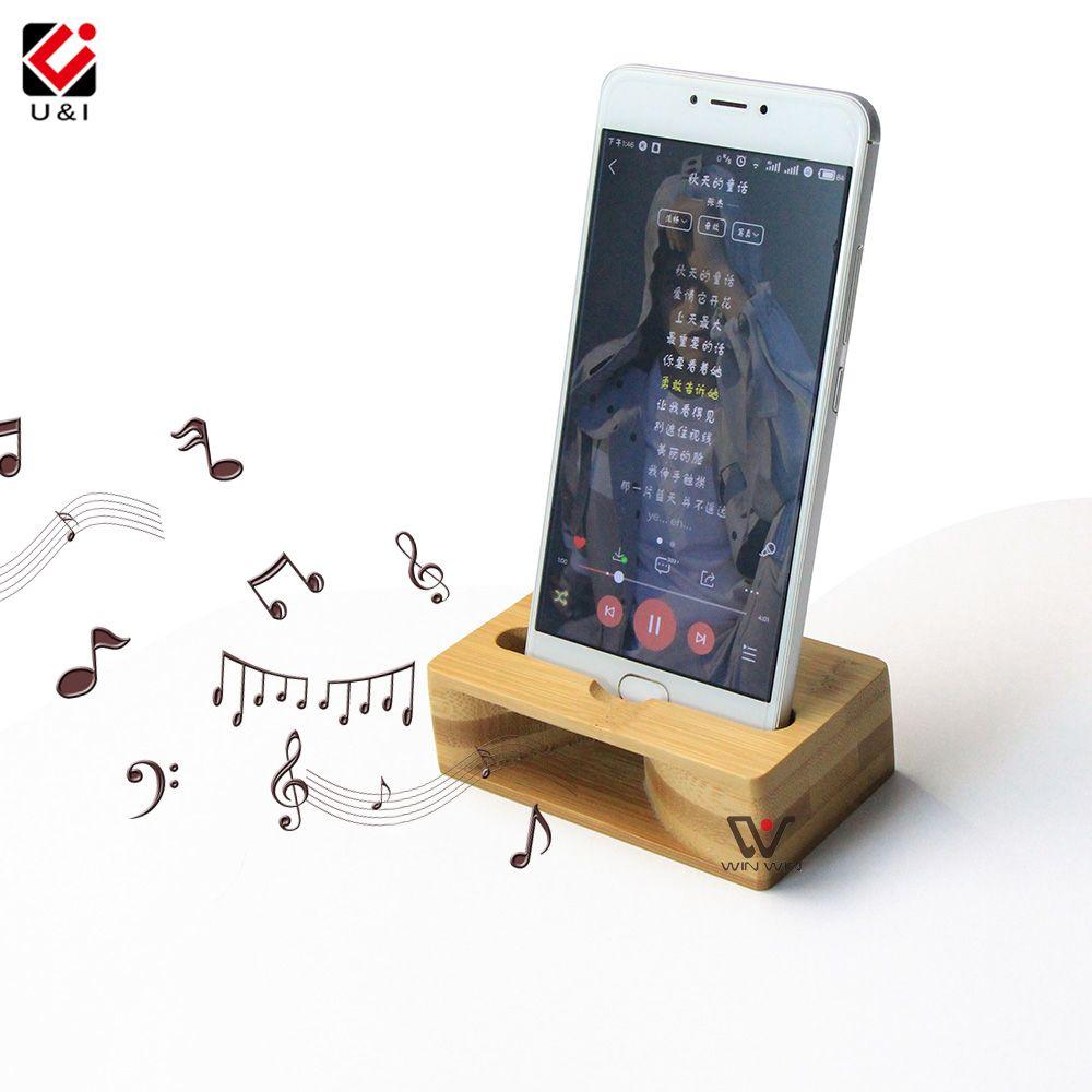 2018 Portable Phone Holder Bamboo Lazy Uu0026I
