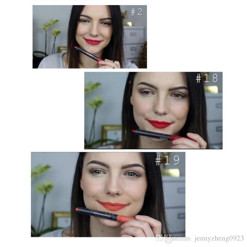 teste comprador atacadista 19 Cores BEIJO PROVA Sexy Beauty Waterproof Lip Pencil Batom caneta duradoura antiaderente Cup