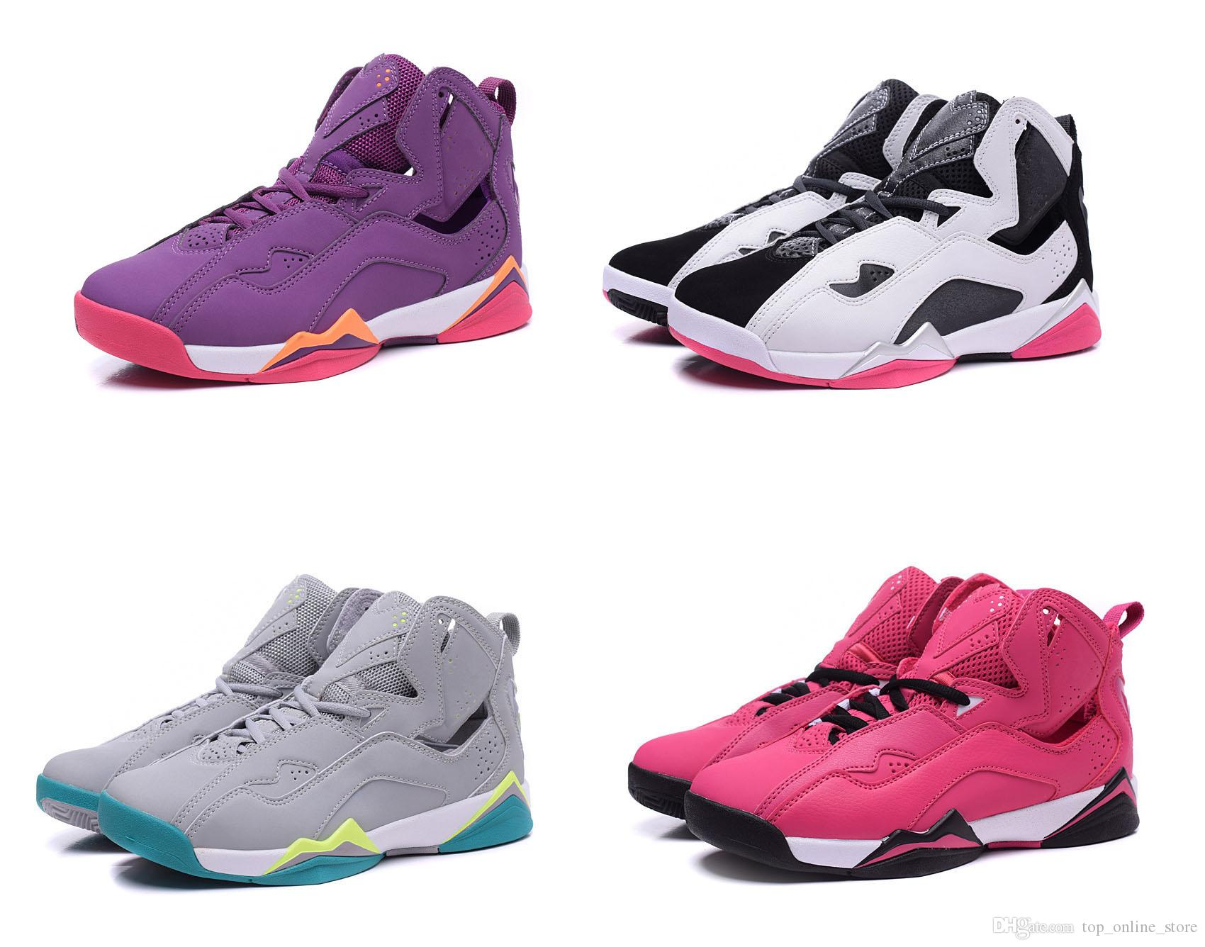 4545976b7f11a3 Retro 7 VII Basketball Shoes For Women True Flight Dan 7s Outdoor Sneakers  Come With Receipt Bag Sock Box Mens Basketball Shoes Men Sneakers From ...