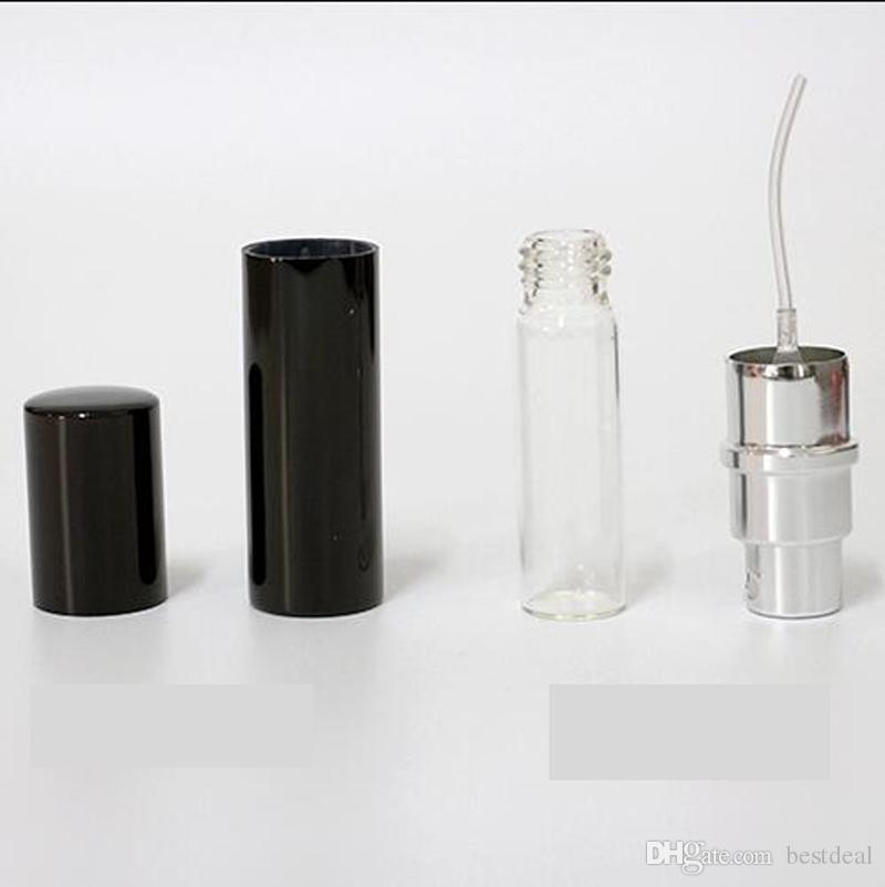 السفر زجاجة عطر 5ML الألومنيوم بأكسيد المدمجة زجاجات إعادة الملء العطور Atomiser العطر الزجاج رائحة زجاجة رذاذ رذاذ عطر المنزل