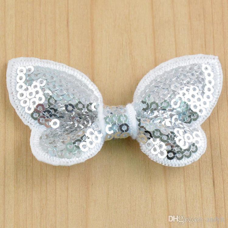 Nueva Moda Bordado lentejuelas Arcos para DIY Bowknot niños Accesorios Para el Cabello niños Clip de Pelo Accesorios G019