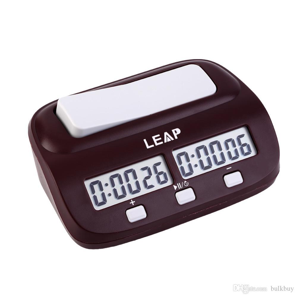 PQ9907 LEAP Professional Orologio da scacchi digitale compatto conteggio alla rovescia Scheda elettronica del gioco Bonus di gioco Torneo Master