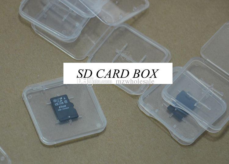 Scatola micro in plastica trasparente MMC TF Card TF nuovo arrivo
