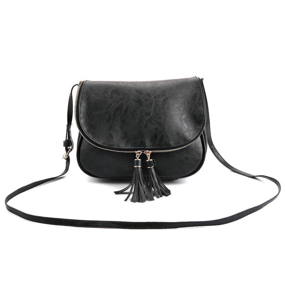 Wholesale Women Cute Tassel Zipper Shoulder Bags Pu Leather Small ...