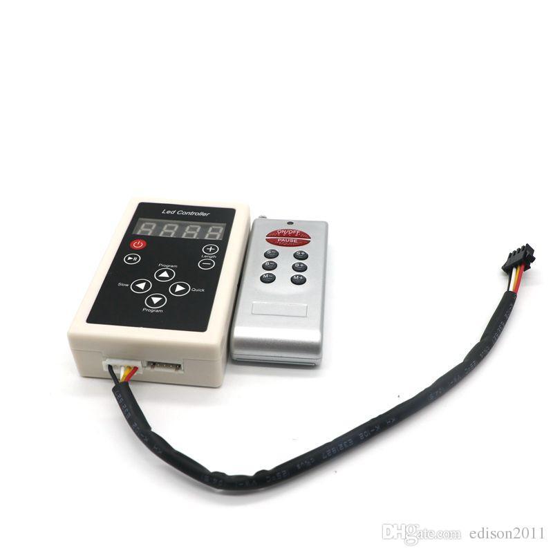 Edison2011 RGB LED Magic Strip Light Controller 5050 Lantern Artykuł IP67 5M 150ed 6803 IC String 133 Program + 12 V 6A Zasilacz