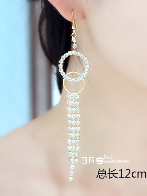 ragazza gioielli Corea del Sud lunghi orecchini nappa signore orecchini di cristallo orecchini sposa sposa linea orecchio gioielli di moda