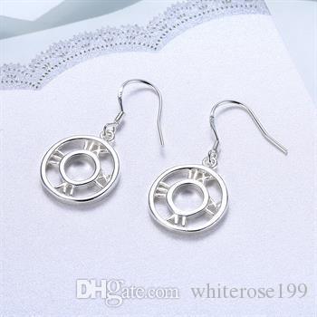 Al por mayor - precio más bajo regalo de Navidad 925 pendientes de moda de plata yE041