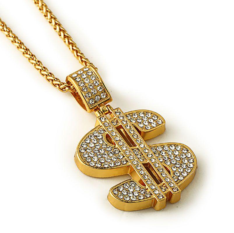 wholesale hip hop 2017 jewelry chains men women charm crystal money