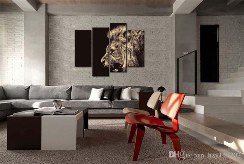 YIJIAHE DW28 Canvas Painting Art Roaring lion Wall Art Pictures Print On Canvas Become Paintings To Decorate Your House Office ect.