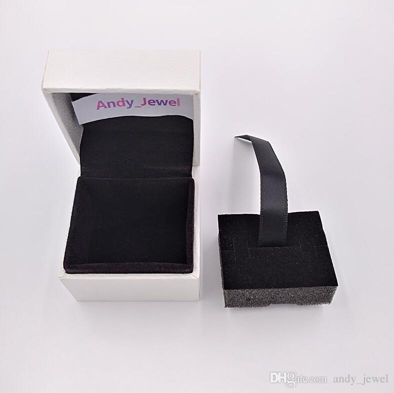 Authentic Charm Beads Box Packaging Pandora Style Jewelry Earring Borchie di gioielli di alta qualità Pacchetti regalo all'ingrosso