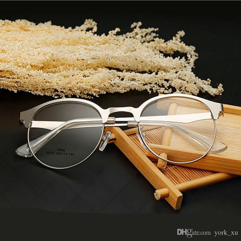 36e4accf60 Retro EyeGlasses Frame Unisex Hipster Vintage Retro Classic Half Frame Glasses  Clear Lens Nerd Eye Wear Gls001 Clear Eyeglass Frames Cute Glasses Frames  ...