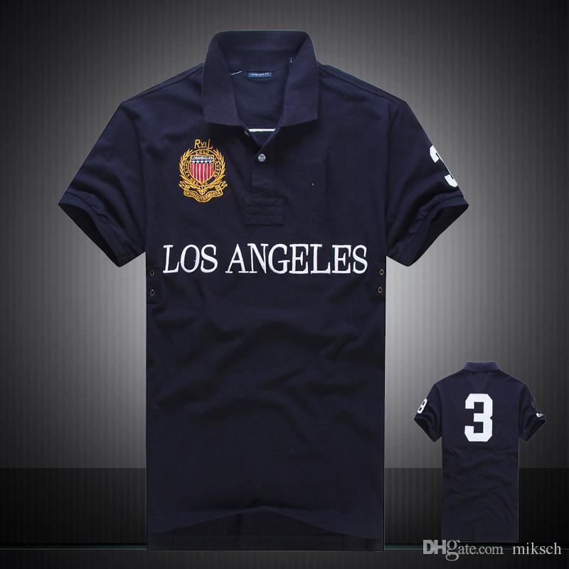 discounted PoloShirt men Short Sleeve T shirt Brand London New York Chicago polo shirt men Dropship Cheap High Quality