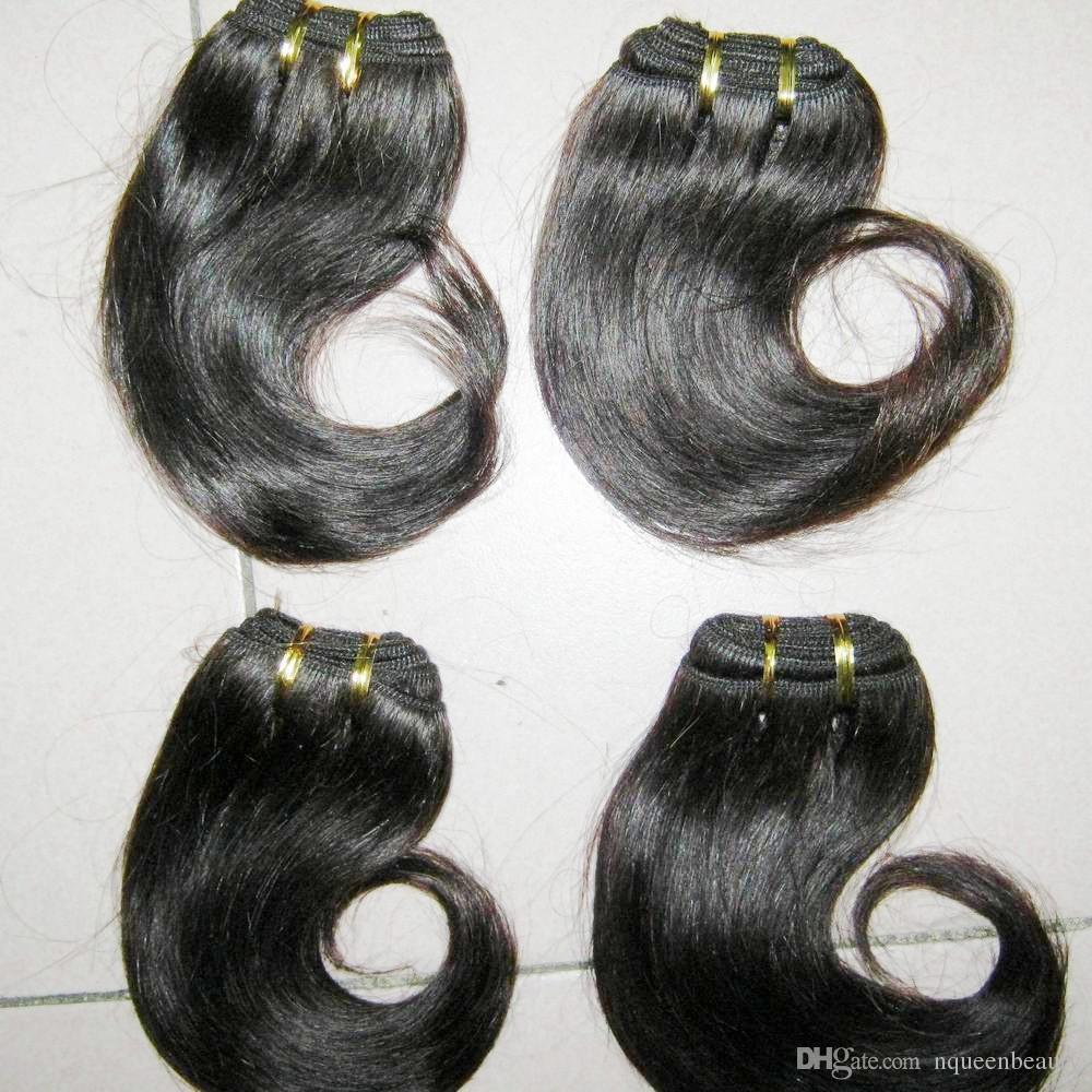 الأخت الأفريقية شراء بالجملة الشعر غير المجهزة البرازيلي ريمي التمديد قصيرة نسج موجة /