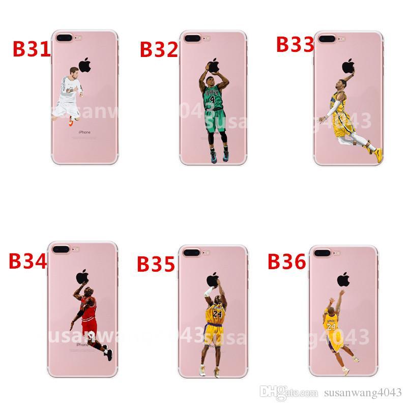 Casos del teléfono del diseñador de Curry Kobe LeBron para el iphone X XR XS Max 8 7 6 más S8 Sdifícil cubrir la cubierta de la cáscara del baloncesto del casco GSZ398