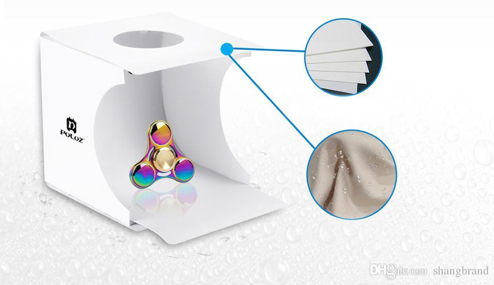 Новый 20 * 20 * 20 см Мини Photo Studio Box портативный фотографии фон встроенный свет Photo Box маленькие предметы фотография фон Box