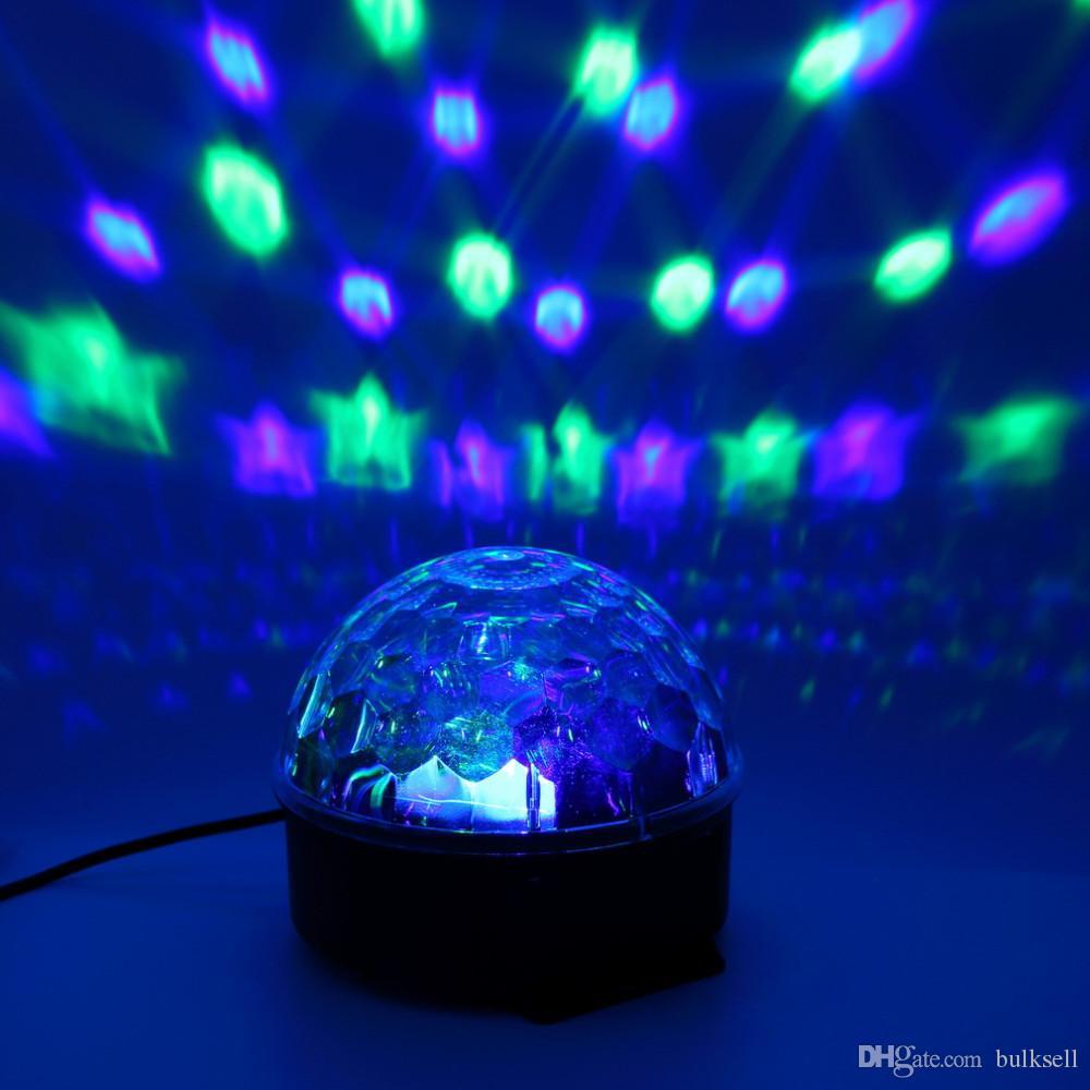 Luz mágica de cristal do efeito da bola do diodo emissor de luz de 6 cores para o partido do estágio do disco DJ