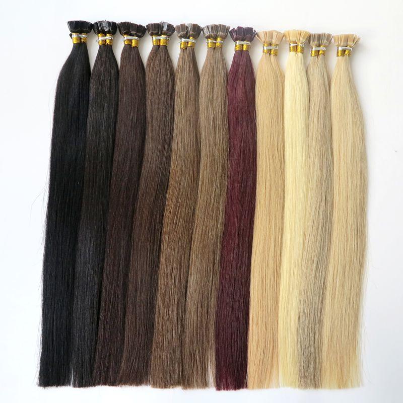 50g Brazilian Human Hair Flat Tip Full Cuticle Remy Indan Peruvian