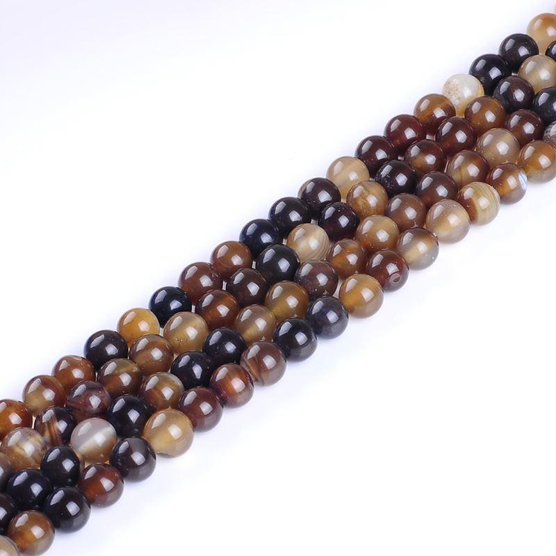 Natural Stone Grey Agates Round Loose Beads For Jewelry Making 4 6 8 10mm Spacer Gem Beads Diy Bracelet Wholesale Perles Beads Jewelry & Accessories