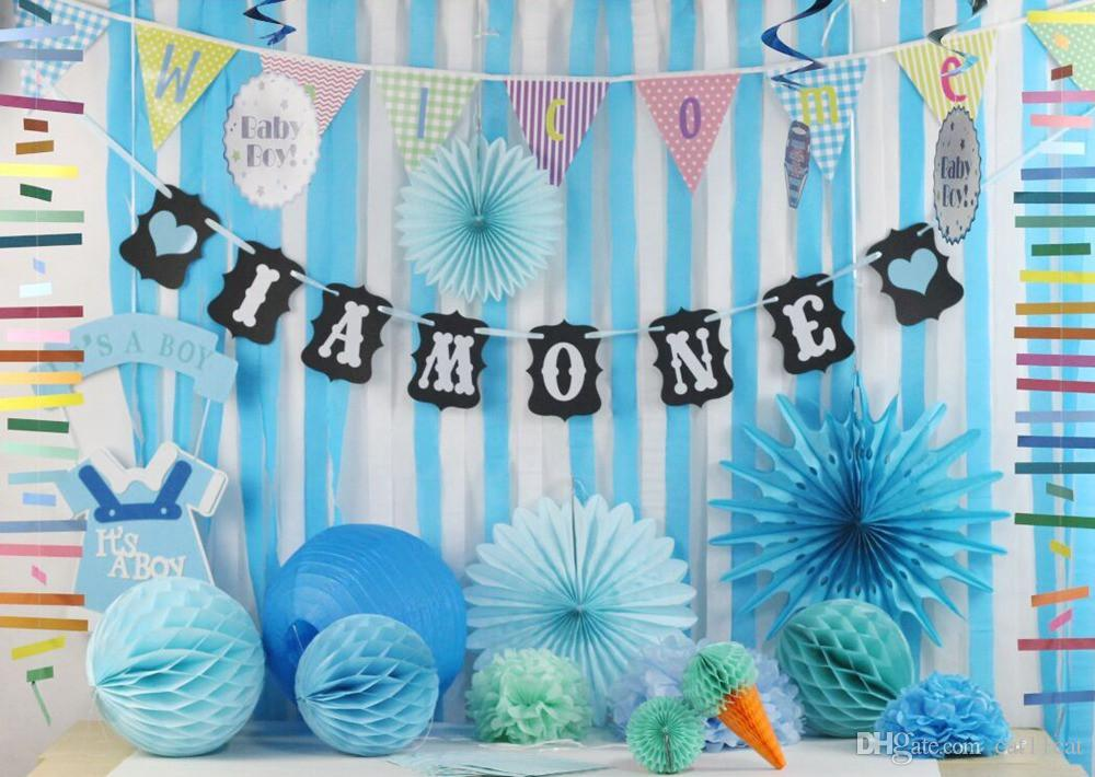2019 I AM ONE Banner Love Bunting Garland Baby Girl Boy First Birthday Party Decoration Shower Photo Prop From Cat11cat