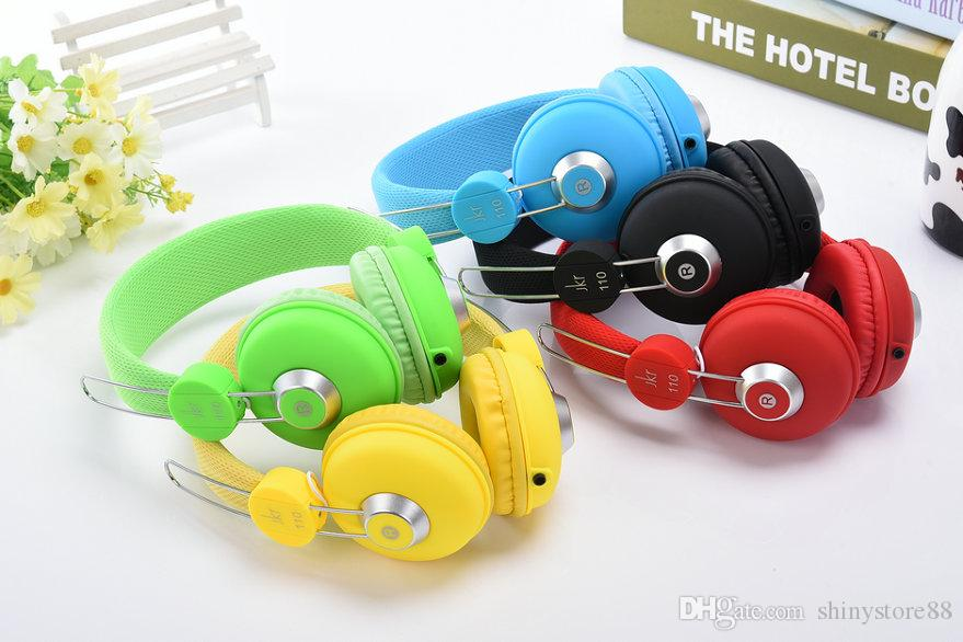 JKR-110 Hifi Kulaklık Kulaklık Kulaklık Cep Telefonu Bilgisayar Için Mic olmadan Mic Iptal Gürültü Kablolu MP3 MP4