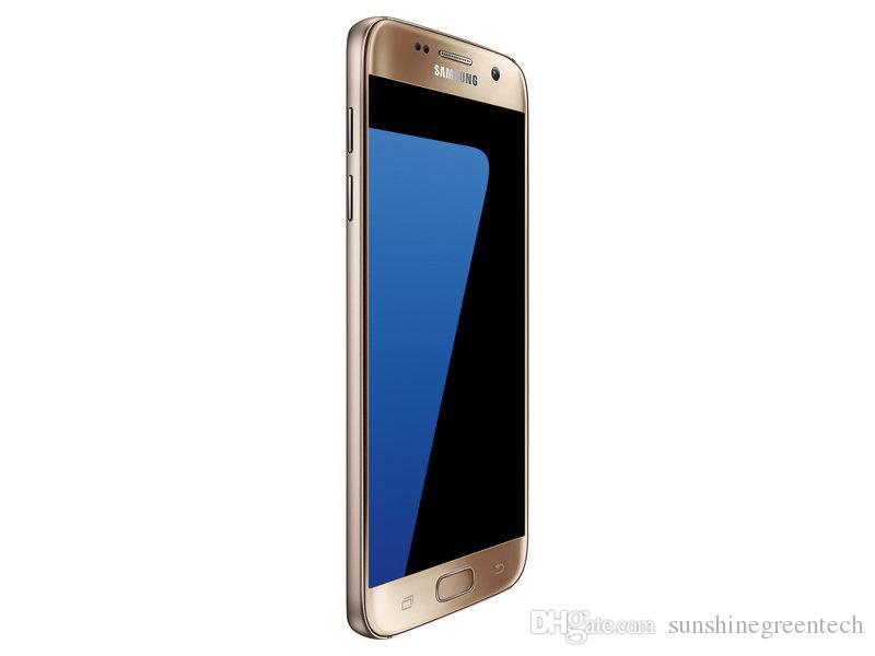 Yenilenmiş Samsung Galaxy S7 G930F G930A G930T G930V G930P Unlocked Telefonları 5.1 inç LTE Yenilenmiş telefonlar 4 GB RAM 32 GB ROM Cep Telefonu