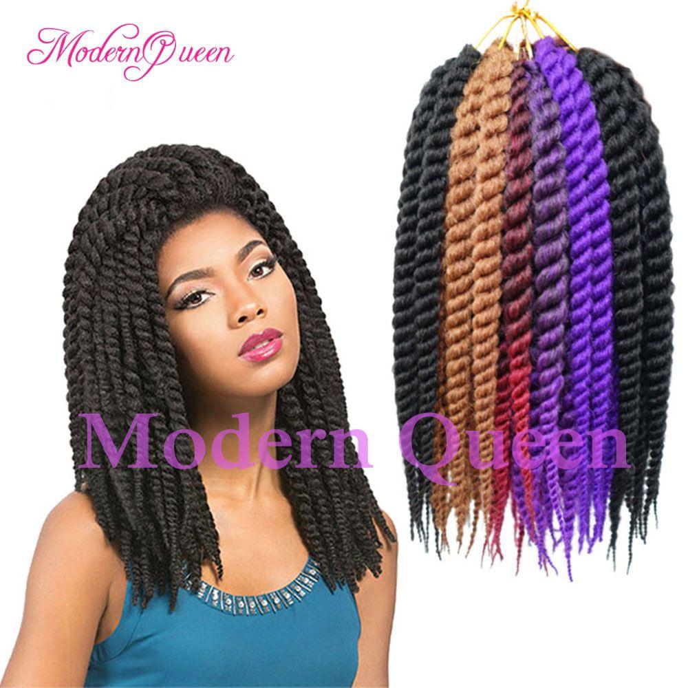 12 Inch Havana Mambo Twist Crochet Braids Hair Extensions 65gpack