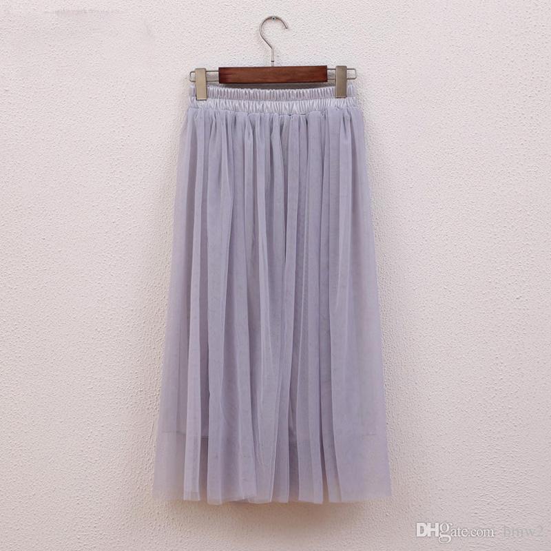 fea26770d5610c Tulle Jupes Femmes D'Été De Mode Taille Haute Jupe Longue Taille Élastique  Soleil Moelleux Tutu Jupe Longue Jupe Femme