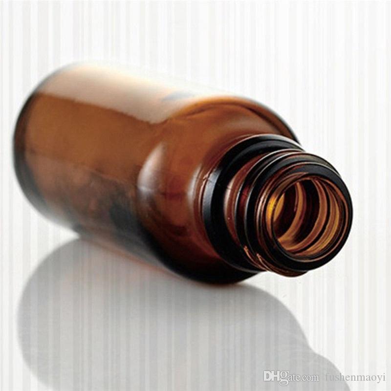 앰버 유리 액체 시약 피펫 병 스포이드 아로마 테라피 5ml-100ml 에센셜 오일 향수 병 도매 무료 DHL
