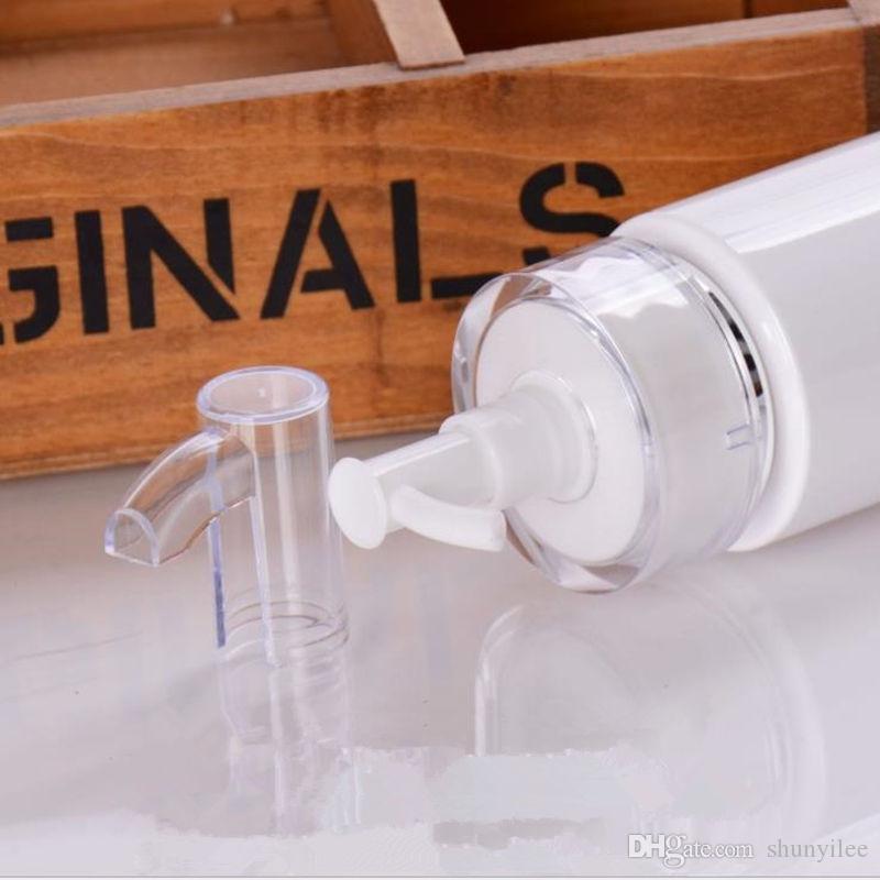 120/160 / 200ML bomba de presión blanca para suero / loción / emulsión / base / gel / botella de plástico de embalaje de esencia F20172092