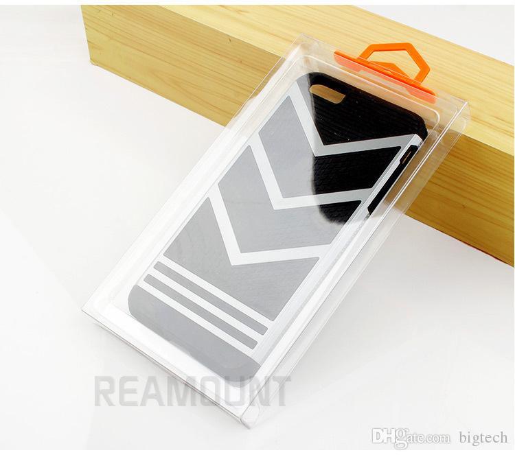 도매 iphone 7에 대 한 다채로운 옷걸이와 투명 한 PVC 포장 상자 도매업 아이폰 7 플러스 5.5inch 휴대 전화 케이스에 대 한 4.7 인치