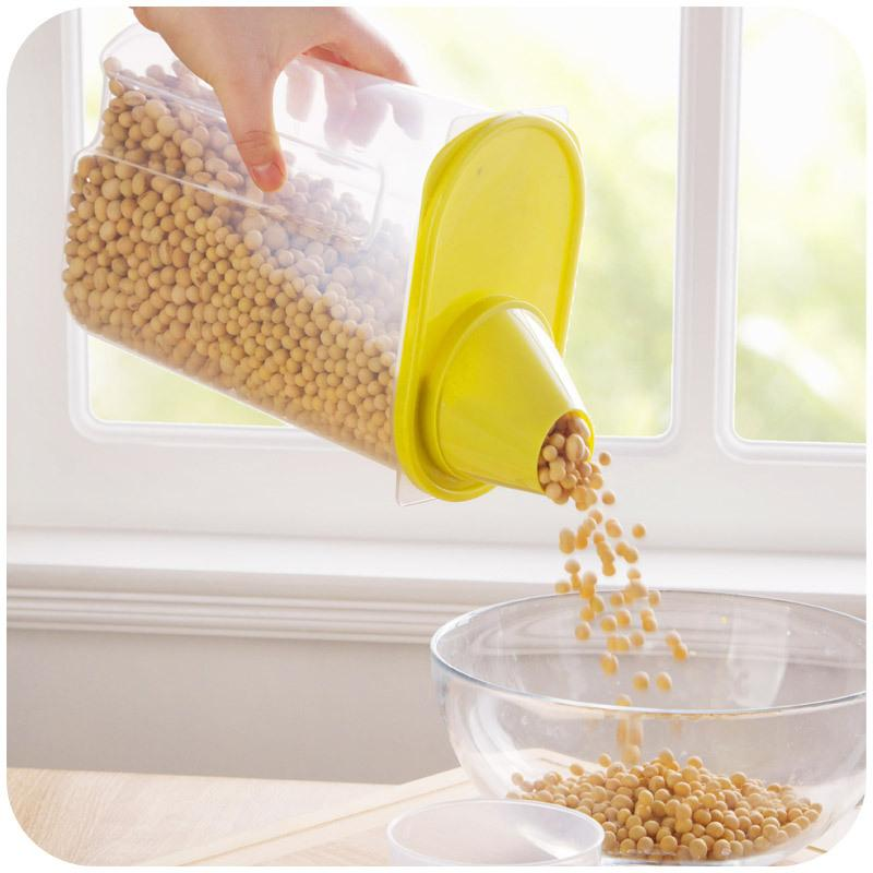 Grains Plastic Storage Box Kitchen Accessories Candy Beans Food Container
