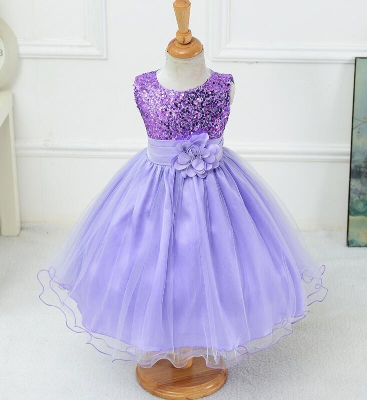 Girls Princess Dress Fit Graduation Gowns Children Champagne Flower ...