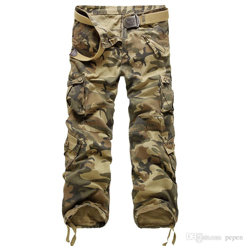 d1f9217fd 2019 Xl 4xl 5xl 6xl Plus Size Big Men S Cargo Pant Casual Men Elastic Waist  Multi Pocket Overall Male Large Long Baggy Large Trouser From Pepen