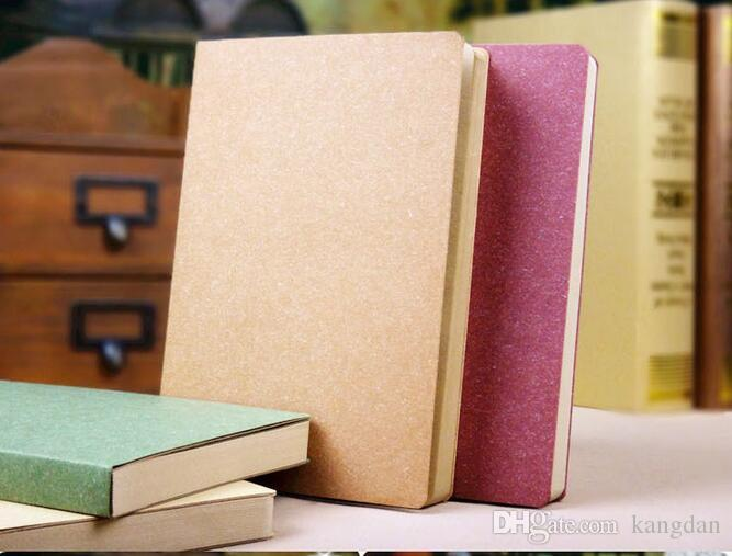26x19cm kraft papers Notebooks office student notes book 120 sheets journal notepads dairy book drawing sketch blank book cover