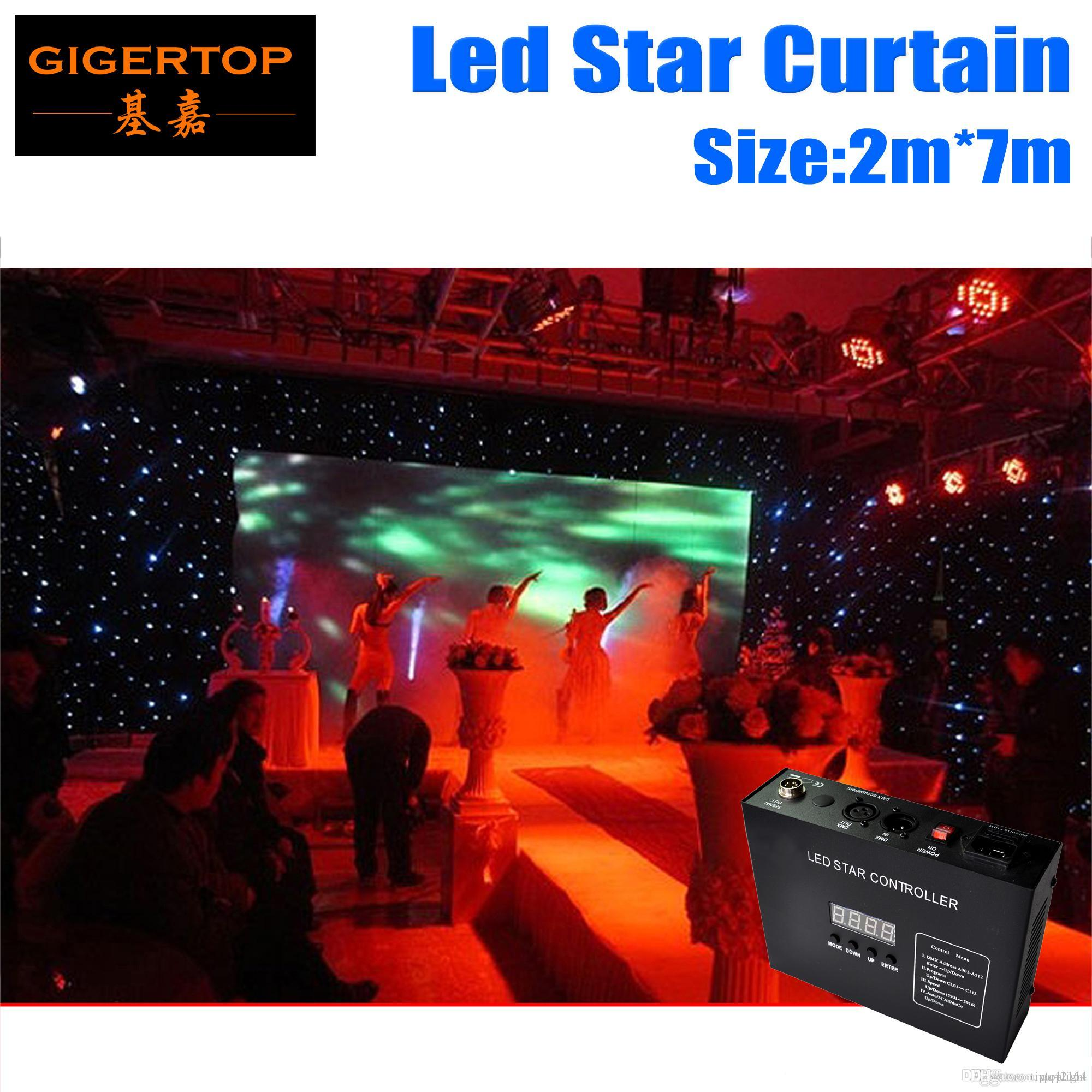 High Quality 2M*7M&7M*2M LED Star Curtain,White blue/ RGBW/RGB Colored LED Stage Backdrop,LED Star Cloth for Wedding Decoration 90V-240V