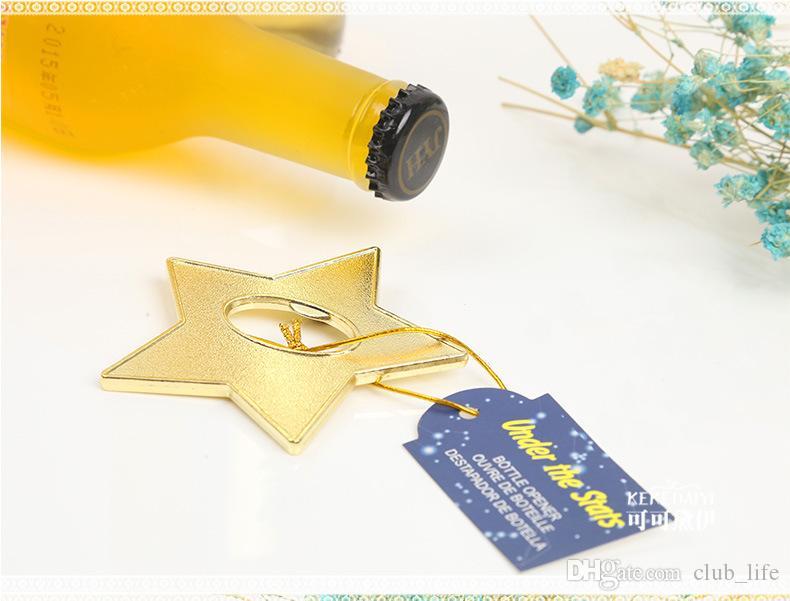 einzigartiges kreatives Multifunktionsmetallmagnetstern-Flaschenöffnerbier-Stabwerkzeug DHL Fedex geben # 001 frei