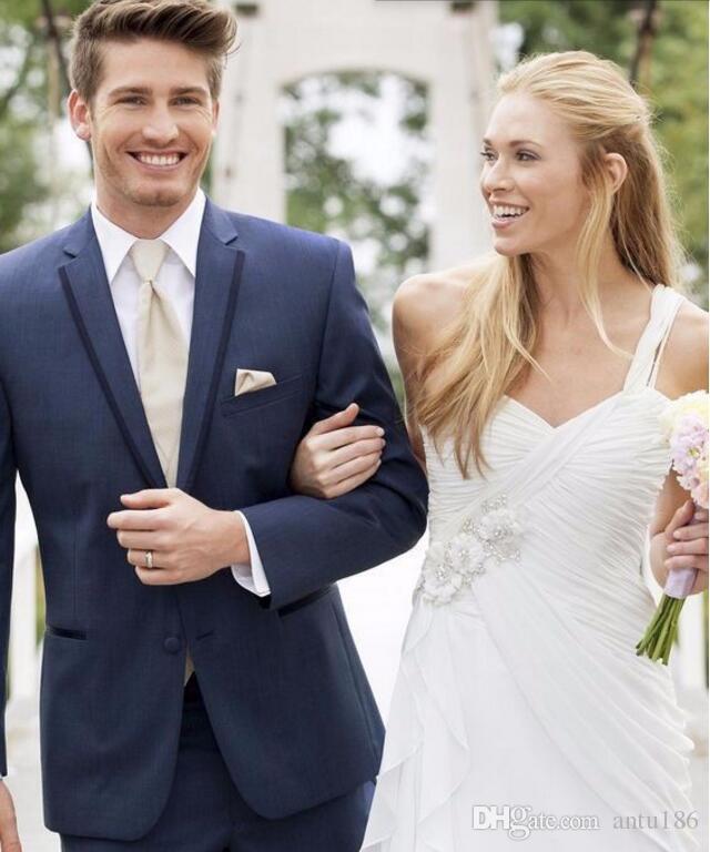 Sıcak Satış Damat takımları Smokin yakışıklı erkek Düğün Takımları smokin Custom Made sağdıç Takımları Smokin Ceket + Pantolon