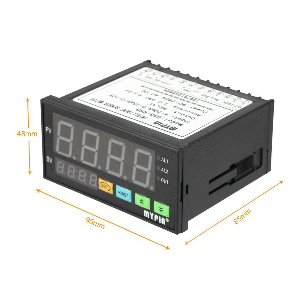 Freeshipping цифровой датчик метр многофункциональный интеллектуальные датчики давления светодиодный дисплей 0-75 МВ / 4-20 мА / 0-10 в 2 реле сигнализации выход