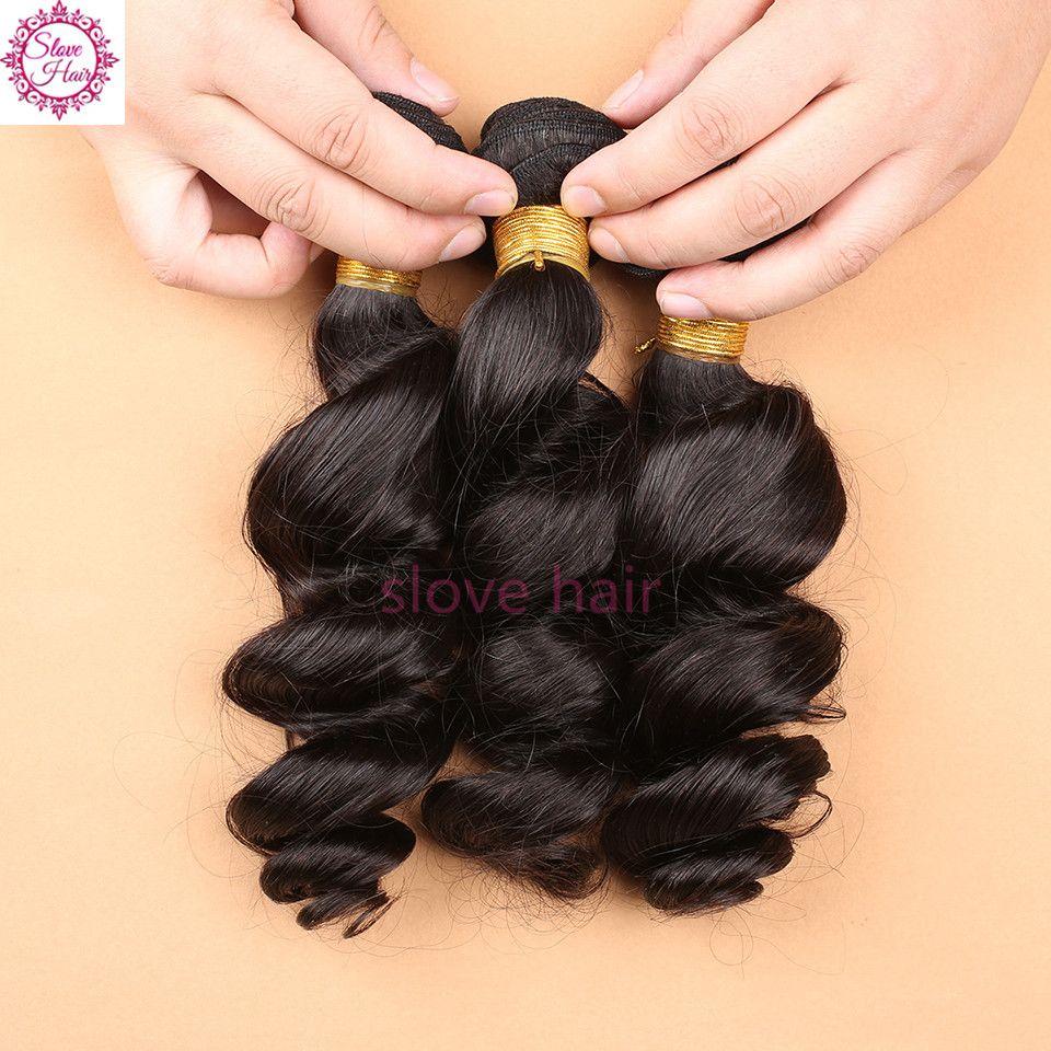 Cheap Brazilian Aunty Funmi Virgin Hair Unprocessed 3 Bundles Deals Bouncy Curly Hair Extensions Short Curly Human Hair Weave