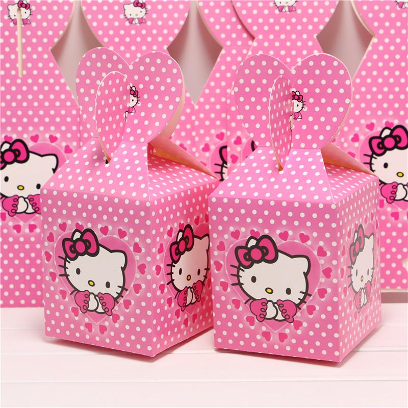 Wholesale Set Of Baby Shower Favors Hello Kitty Favor Box Candy Box  Birthday Party Souvenir Boy/Girl Kids Event U0026 Party Supplies Wrap Paper  Gift Wraping ...