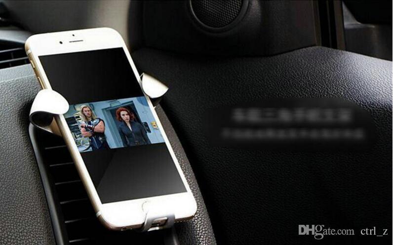 Новый железный коготь гравитация автомобильный телефон стент металлическая розетка крепления мобильного телефона кронштейн безопасности треугольник кронштейн