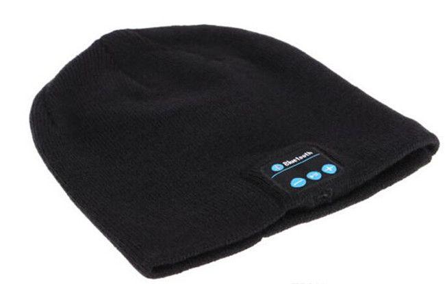 o Hot Men Women Soft Winter Beanie Hats Wireless Bluetooth Smart Cap Headphone Headset Speaker Mic Headgear Knitted Cap More Colour
